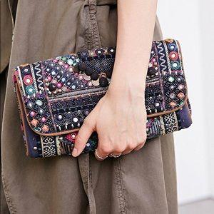Ecotè Bohemian Over The Shoulder/Clutch Bag